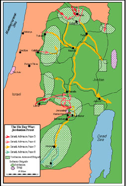 The Six Day War Involved Three Distinct Battlefronts Tied Together By A Shared Desire On The Part Of The Surrounding Arab States To Eliminate Israel And
